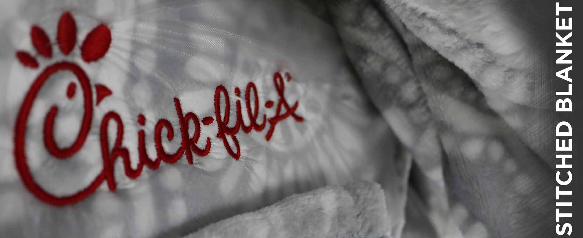 Chick Fil A Embroidered Blanket