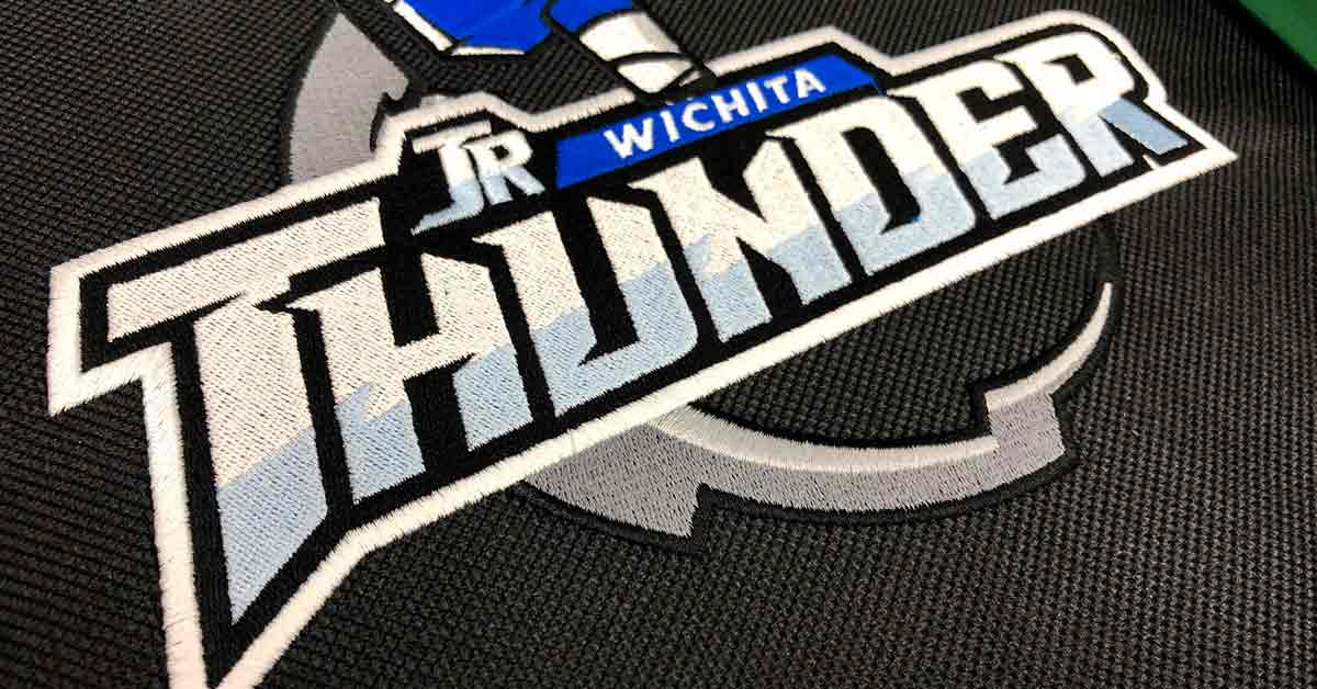 Wichita Thunder Hockey Stitched Duffel Bags